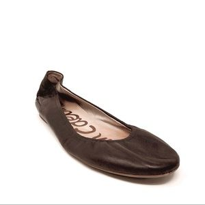 Sam Edelman Woman's Brown Leather Ballerina Flats